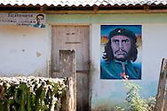 Image of Ernesto Che Guevara in Manglito, Guantanamo, Cuba.
