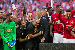 after Manchester United win the match 1-2 - Rogan Thomson/JMP - 07/08/2016 - FOOTBALL - Wembley Stadium - London, England - Leicester City v Manchester United - The FA Community Shield.