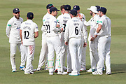 Gloucestershire celebrate bowling out Leicestershire during the Specsavers County Champ Div 2 match between Gloucestershire County Cricket Club and Leicestershire County Cricket Club at the Cheltenham College Ground, Cheltenham, United Kingdom on 18 July 2019.