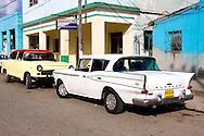 Cars in Bahia Honda, Artemisa, Cuba.
