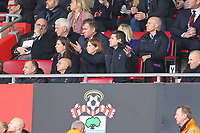 Football - 2018 / 2019 Premier League - Southampton vs. Tottenham Hotspur<br /> <br /> Tottenham Hotspur Manager Mauricio Pochettino raises his arm in frustration whilst sitting in the stand at St Mary's Stadium Southampton<br /> <br /> COLORSPORT/SHAUN BOGGUST