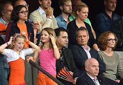 04-10-2015 NED: Volleyball European Championship Final Nederland - Rusland, Rotterdam<br /> Nederland verliest kansloos met 3-0 van het sterke Rusland / Gido Vermeulen op de tribune bij de finale