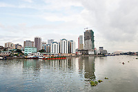 River Pasig with city skyline; Manila; Philippines