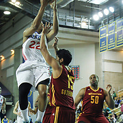 Delaware 87ers Forward Rodney Williams (22) drives towards the basket as Canton Charge Guard Jorge Gutierrez (15) defends in the first half of a NBA D-league regular season basketball game between the Delaware 87ers (76ers) and The Canton Charge (Cleveland Cavaliers) Friday, Jan 24, 2014 at The Bob Carpenter Sports Convocation Center, Newark, DEL.