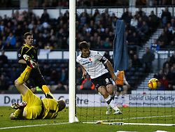 Derby County's Chris Martin scores the third goal-Photo mandatory by-line: Matt Bunn/JMP - Tel: Mobile: 07966 386802 09/11/2013 - SPORT - FOOTBALL - Pride Park - Derby - Derby County v Sheffield Wednesday - Sky Bet Championship