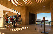 Sokol Blosser's Terrace, Exclusive to the Cellar Club, where members tastings while taking in Oregon wine country's Willamette Valley and Dundee Hills during the summer months, Dundee Hills, Willamette Valley, Oregon
