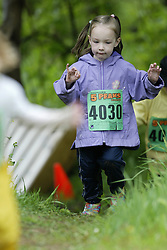 """(Kingston, Ontario---16/05/09) """"Emily Meers running in the kids race at the 2009 Salomon 5 Peaks Trail Running series Race held in Kingston, Ontario as part of the Eastern Ontario/Quebec division. """"  Copyright photograph Sean Burges / Mundo Sport Images, 2009. www.mundosportimages.com / www.msievents.com."""