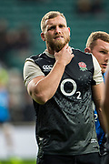 Twickenham, United Kingdom, Saturday, 24th  November 2018, RFU, Rugby, Stadium, England, England Pre game warm up. Brad Shields, Quilter Autumn International, England vs Australia, © , Peter Spurrier