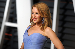 Kylie Minogue in attendance for 2015 Vanity Fair Oscar Party Hosted By Graydon Carter at Wallis Annenberg Center for the Performing Arts on February 22, 2015 in Beverly Hills, California. EXPA Pictures © 2015, PhotoCredit: EXPA/ Photoshot/ Dennis Van Tine<br /> <br /> *****ATTENTION - for AUT, SLO, CRO, SRB, BIH, MAZ only*****