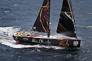PORTUGAL, Cascais. 30th July 2011. Abu Dhabi Ocean Racing at the start of their 2000 mile VOR qualifying sail.
