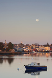 Portsmouth Harbor in early morning. Portsmouth, New Hampshire.