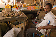Store selling fruits and vegetables in the market of Abyei.