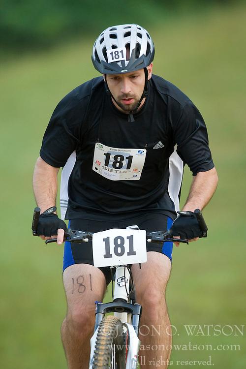 CHARLOTTESVILLE, VA - August 17, 2008 - DAVID SWINEY (181) in the 2008 Charlottesville XTERRA Triathlon was held at Walnut Creek Park in Albemarle County near Charlottesville, Virginia, USA.