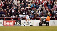 Photo: Leigh Quinnell.<br /> Brentford v Swansea City. Coca Cola League 1.<br /> 26/12/2005. Swanseas Alan Tate is sent off for a second yellow card.