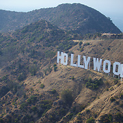 """The Famous Hollywood sign on the Hollywood hills. Originally """"Hollywoodland"""" to promote a real estate development/commmunity of homes, the last 4 letters fell down, leaving just Hollywood...and the rest is history!"""