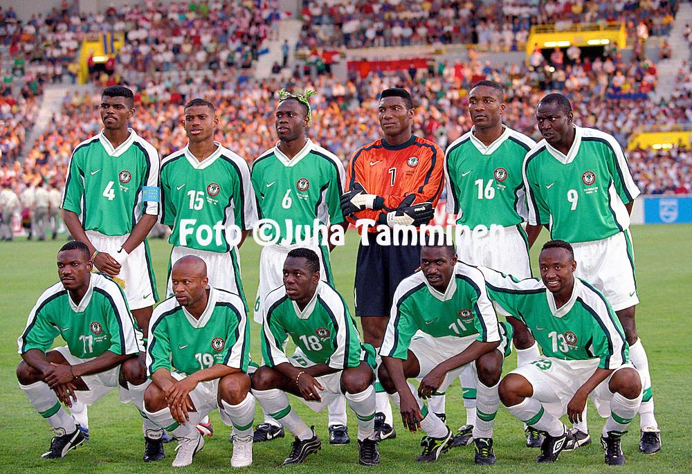 Resultado de imagem para seleção da nigéria de 1998