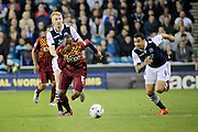 Bradford City midfielder Kyel Reid attacks during the Sky Bet League 1 play-off second leg match between Millwall and Bradford City at The Den, London, England on 20 May 2016. Photo by Nigel Cole.