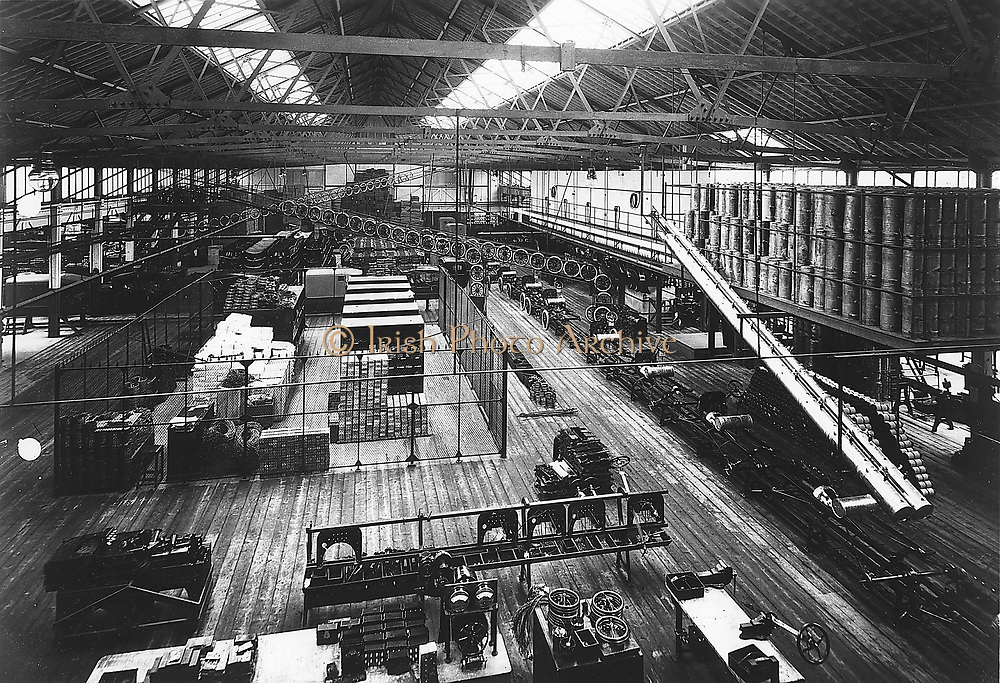 Bird's-eye view of part of Ford Production line at the Highland Park factory c1914. Credit: Ford/World History Archive.