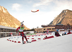 16.01.2011, Chiemgau Arena, Ruhpolding, GER, IBU Biathlon Worldcup, Ruhpolding, Pursuit Men, im Bild Lars Berger (NOR) // Lars Berger (NOR) during IBU Biathlon World Cup in Ruhpolding, Germany, EXPA Pictures © 2011, PhotoCredit: EXPA/ J. Feichter