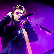 Jared Leto of 30 Seconds To Mars performs at Live 105's Not So Silent Night at Oracle Arena in Oakland California USA on December 11 2009