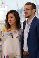 Denise Ping Lee and director Roberto Minervini at the The Other Side film photo call at the 68th Cannes Film Festival Thursday May 21st 2015, Cannes, France.