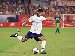 NEW YORK, NEW YORK, USA - Wednesday, July 24, 2019: Liverpool's Joe Gomez during a friendly match between Liverpool FC and Sporting Clube de Portugal at the Yankee Stadium on day nine of the club's pre-season tour of America. (Pic by David Rawcliffe/Propaganda)