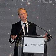 NLD/Den Haag/20111114 - Perslunch Virgin Galactic iav Sir Richard Branson, Ronald Heister