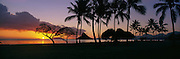 Sunrise, Kualoa Park, Kaneohe Bay, Oahu, Hawaii<br />