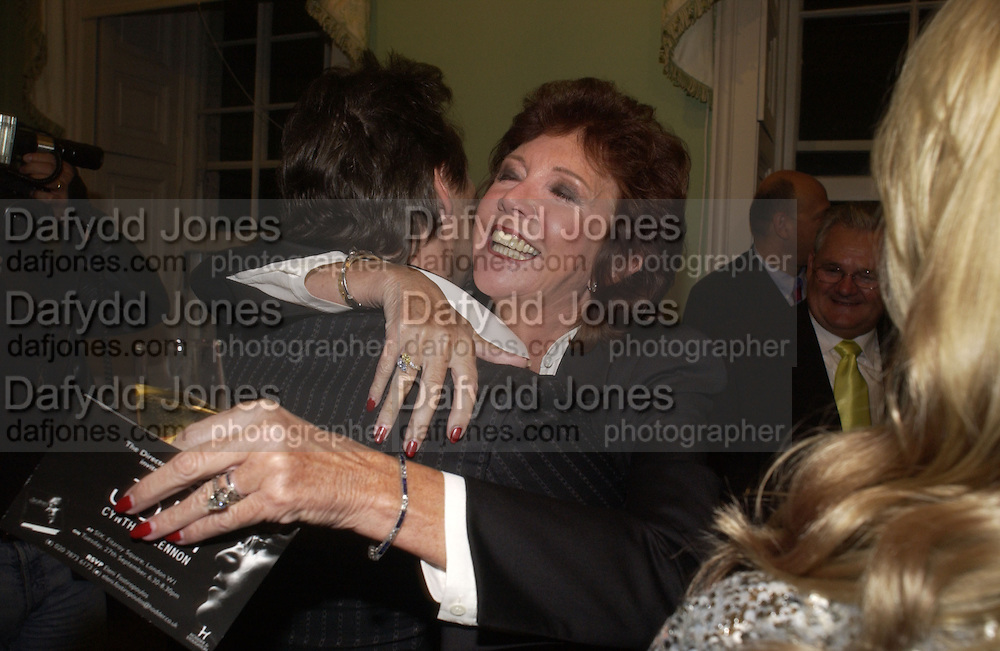 Julian Lennon and  Cilla Black, Launch of 'John' by Cynthia Lennon at Six, Fitzroy Sq. London. 27 September 2005. ONE TIME USE ONLY - DO NOT ARCHIVE © Copyright Photograph by Dafydd Jones 66 Stockwell Park Rd. London SW9 0DA Tel 020 7733 0108 www.dafjones.com