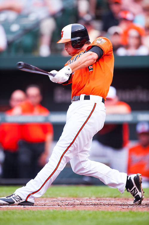 BALTIMORE, MD - MAY 26: J.J. Hardy #2 of the Baltimore Orioles bats during the game against the Kansas City Royals at Oriole Park at Camden Yards on May 26, 2012 in Baltimore, Maryland. (Photo by Rob Tringali) *** Local Caption *** J.J. Hardy