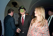 CHRIS BOAS; KATHARINE HESS, The Surrealist Ball in aid of the NSPCC. Hosted by Lucy Yeomans and Harry Blain. Banqueting House. Whitehall. 17 March 2011. -DO NOT ARCHIVE-© Copyright Photograph by Dafydd Jones. 248 Clapham Rd. London SW9 0PZ. Tel 0207 820 0771. www.dafjones.com.