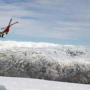 Gus Kenworthy, USA, in action during the Freeski Big Air competition at Cardrona, New Zealand during the Winter Games. Wanaka, New Zealand, 20th August 2011. Photo Tim Clayton
