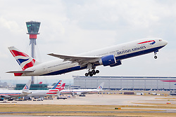 © under license to London News Pictures.FILE PHOTO British Airways Boeing 777 Aircraft at London Heathrow<br /> <br /> Photo credit should read IAN SCHOFIELD/LNP