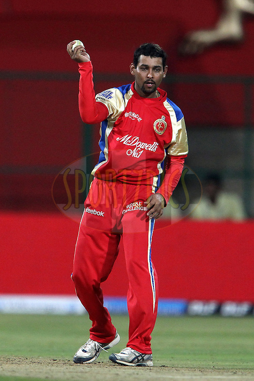 Tillakaratne Dishan during match 8 of the the Indian Premier League ( IPL ) Season 4 between the Royal Challengers Bangalore and the Mumbai Indians held at the Chinnaswamy Stadium, Bangalore, Karnataka, India on the 12th April 2011..Photo by Ron Gaunt/BCCI/SPORTZPICS