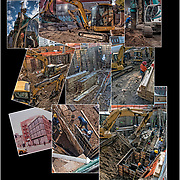 Montage of work in progress of new building on the corner of 7th Avenue South and 11th Street.