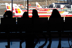 04.12.2010, Airport, Madrid, ESP, Streik der spanischen Fluglotsen, im Bild Spain's government says the country's air space has now reopened after a closure prompted by striking air traffic controllers..An official with the civil aviation agency AENA says it got the all-clear Saturday from Eurocontrol, Europe's air traffic agency..The official said strikers who launched the stoppage Friday afternoon are returning to work in sufficient numbers to make it safe to fly in Spanish air space..The return comes after the government placed the strikers under military authority and threatened them with jail terms under the military penal code. EXPA Pictures © 2010, PhotoCredit: EXPA/ Alterphotos/ Cesar Cebolla +++++ ATTENTION - OUT OF SPAIN / ESP +++++