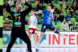 Katarina Krpez #33 of RK Krim Mercator during handball match between RK Krim Mercator (SLO) and Larvik HK (NOR) in 1st Round of Women's Champions League on February 1, 2014 in Arena Stozice, Ljubljana, Slovenia. Photo by Urban Urbanc / Sportida