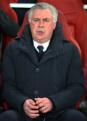 March 7, 2017 - London, England, England - Carlo Ancelotti manager of FC Bayern Munich during UEFA Champions League - Round 16 - 2nd Leg match between Arsenal and Bayern Munich at The Emirates , London 07 Mar 2017  (Credit Image: © Kieran Galvin/NurPhoto via ZUMA Press)