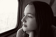 Anna on the Amtrak train between NYC and DC