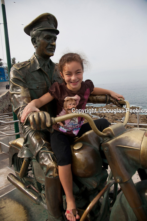 Pedro Infante on a motorcycle, Malecon, Avenue del Mar, Mazatlan, Sinaloa, Mexico