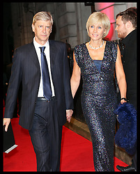 Arsene Wenger and wife  arriving  arriving at the British Film Institute's  Luminous Gala in London,  Tuesday, 8th October 2013. Picture by Stephen Lock / i-Images
