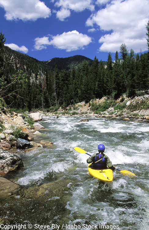 IDAHO MIDDLE FORK OF THE SALMON RIVER Whitewater kayaking in the Frank Church River of No Return Wilderness MR