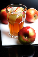 Close up of apple juice