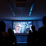 April 17, 2018 - New York, NY : The New York Times hosted Bill Nye for a conversation about climate change with New York Times science writer James Gorman and NYC Rising producer Geraldine Moriba at the Times building on Tuesday evening. Here, a scene from the Bill Nye film. CREDIT: Karsten Moran for The New York Times