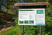 Leska education trail interpretive sign, Risnjak National Park, Croatia