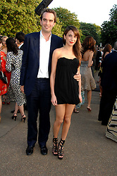 FRITZ VON WESTENHOLZ and CAROLINE SIEBER at the annual Serpentine Gallery Summer Party in association with Swarovski held at the gallery, Kensington Gardens, London on 11th July 2007.<br />