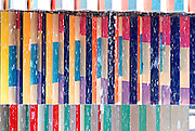 Israel, Tel Aviv, Dizengoff circle, Details of the colourful fountain by Yaacov Agam