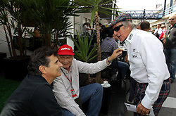 26.11.2011, Autodromo Jose Carlos Pace, Sao Paulo, BRA, F1, Grosser Preis von Brasilien, im Bild Nelson Piquet (BRA), 3 Times F1 World Champion and Niki Lauda (AUT), 3 Times F1 World Champion. Jackie Stewart (GBR), 3 Times F1 World Championfor Austria & Germany Media usage only! // during the Formula One Championships 2011 Grand Prix of Brazil held at the Autodromo Jose Carlos Pace, Sao Paulo, Brazil on 2011/11/26. EXPA Pictures © 2011, PhotoCredit: EXPA/ nph/ poleposition.at****** for Austria & Germany Media usage only ******..***** ATTENTION - for AUT only *****
