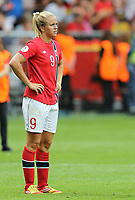 Fotball , EM , Norge - Tyskland 28.juli 2013 , kvinner ,  Sverige , Stockholm , Solna , europamesterskap, finale<br /> Elise Thorsnes<br /> Foto: Ole Marius Fjalsett