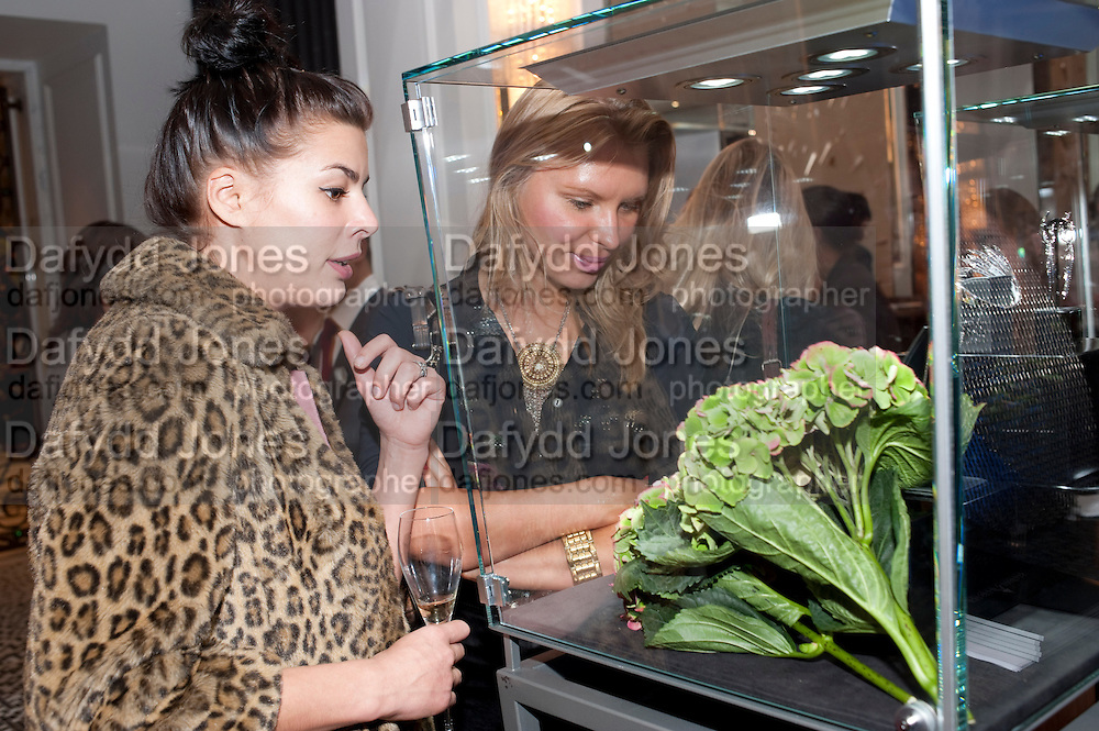ANNE EDQWIST; ELENA PETROVA, Stephen Webster hosted  the Stephen Webster Bijoux Tea.  Launching the  tea  inspired by StephenÕs most recent fine jewellery collection ÔMurder She WroteÕ whichwas also on display. Langham Hotel. Portland Place. London. 14 September 2011. <br /> <br />  , -DO NOT ARCHIVE-© Copyright Photograph by Dafydd Jones. 248 Clapham Rd. London SW9 0PZ. Tel 0207 820 0771. www.dafjones.com.<br /> ANNE EDQWIST; ELENA PETROVA, Stephen Webster hosted  the Stephen Webster Bijoux Tea.  Launching the  tea  inspired by Stephen's most recent fine jewellery collection 'Murder She Wrote' whichwas also on display. Langham Hotel. Portland Place. London. 14 September 2011. <br /> <br />  , -DO NOT ARCHIVE-© Copyright Photograph by Dafydd Jones. 248 Clapham Rd. London SW9 0PZ. Tel 0207 820 0771. www.dafjones.com.